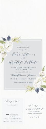 Oil Paint Textured Seal & Send Wedding Invitations