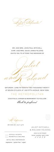 Classic Script Seal & Send Wedding Invitations