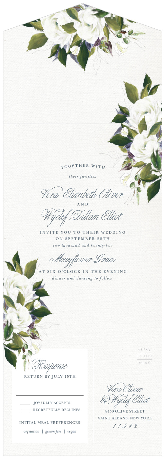 Wedding Invitations With Rsvp Cards Match Your Color