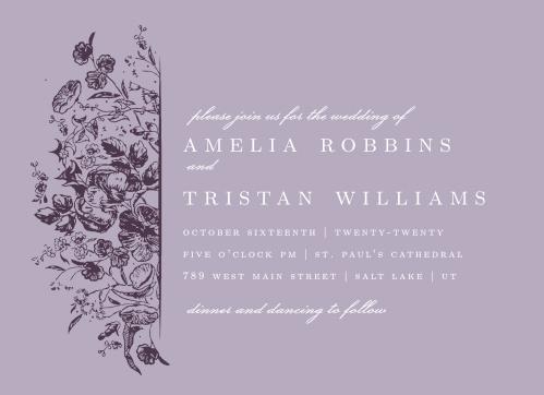 Lilac Wildflowers Wedding Invitations