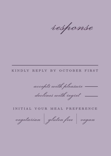 Lilac Wildflowers Response Cards
