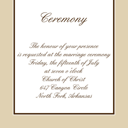 Vintage Classic Ceremony Cards