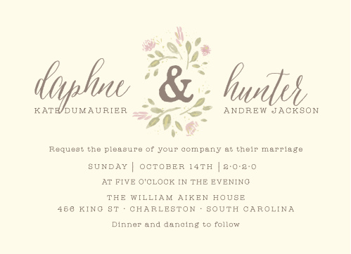 Wildflower Ampersand Wedding Invitations
