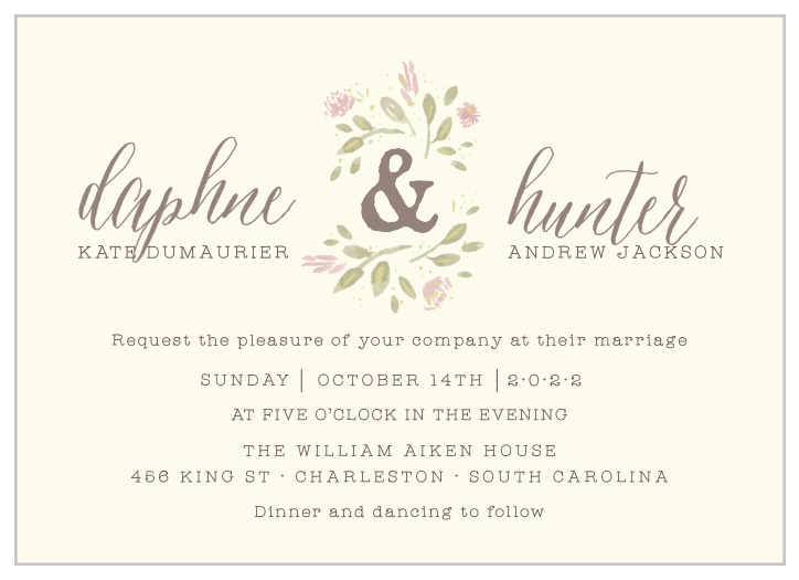 Floral Wedding Invitations - Match Your Color & Style Free!