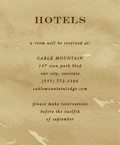 Leaves of Fall Accommodation Cards