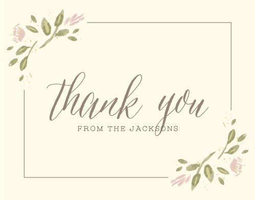 Wildflower Ampersand Wedding Thank You Cards