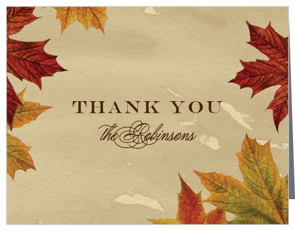 Fall Thank You Cards Match Your Color Style Free