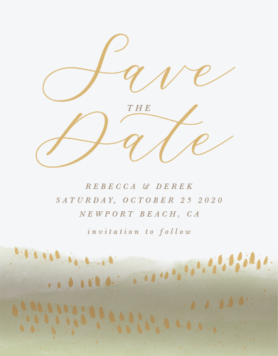 moody mountains save the date cards