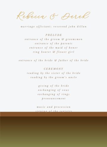 Moody Mountains Wedding Programs