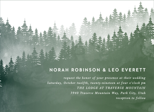 Forest Watercolor Wedding Invitations
