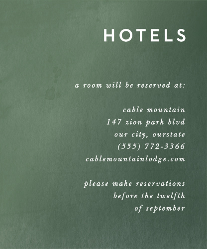 Forest Watercolor Accommodation Cards