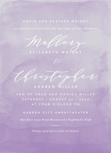 Lilac Dip Dye Wedding Invitations
