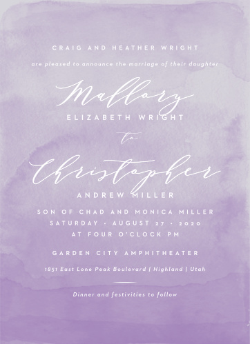 Personalized Wedding Invitations Match Your Color Style Free