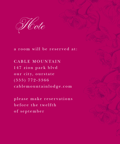Cascading Blooms Accommodation Cards