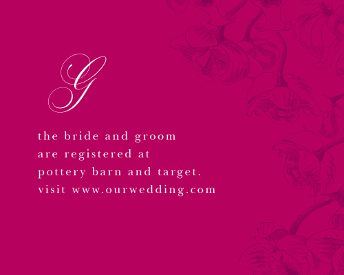 Cascading Blooms Registry Cards