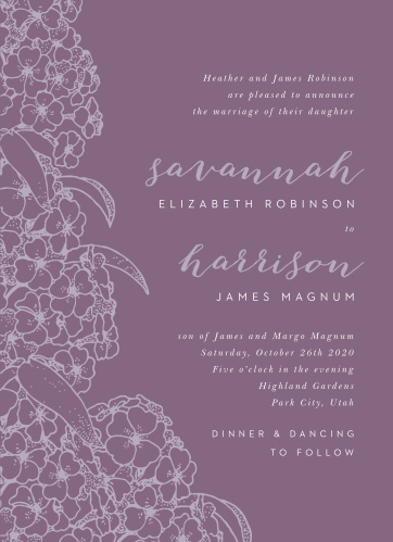 hydrangea wedding invitations match your color style free