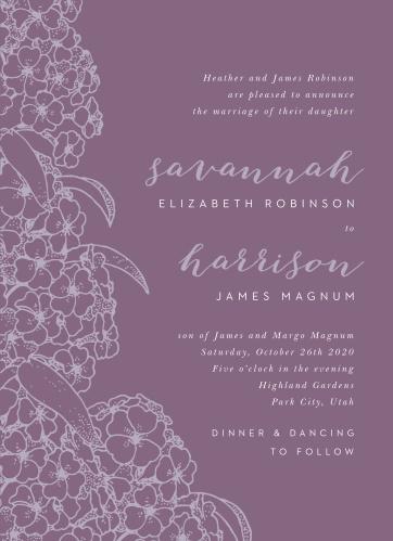 Hydrangea Blossoms Wedding Invitations