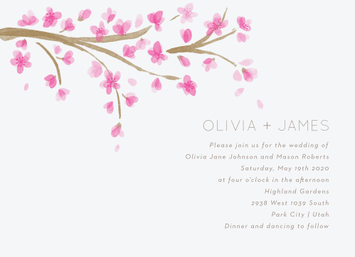 cherry blossom wedding invitations match your color style free