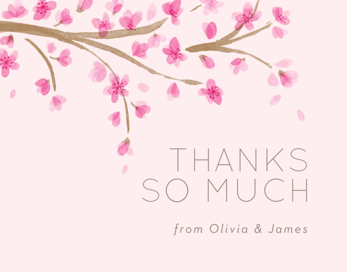 Cherry Branch Wedding Thank You Cards
