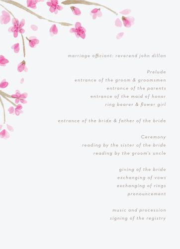 Cherry Branch Wedding Programs