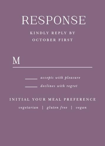 Marsala Blooms Response Cards