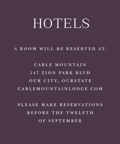 Marsala Blooms Accommodation Cards