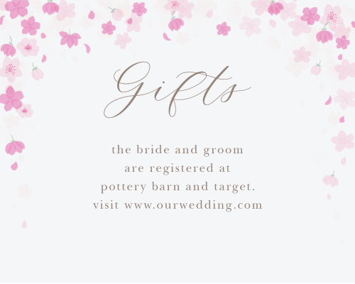 Cherry Blossoms Registry Cards