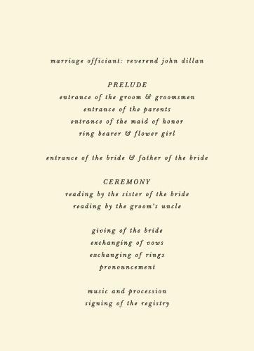 Pressed Leaf Wedding Programs