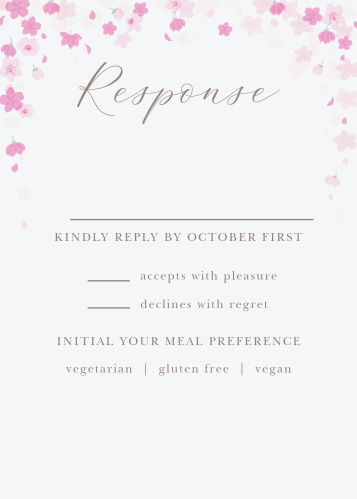 Cherry Blossoms Response Cards