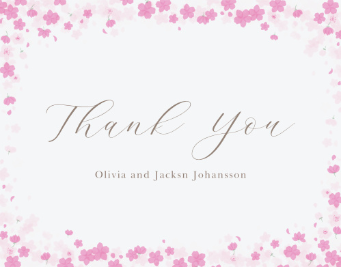 Cherry Blossoms Wedding Thank You Cards