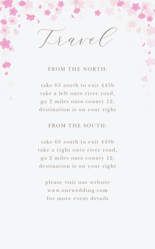 Cherry Blossoms Direction Cards