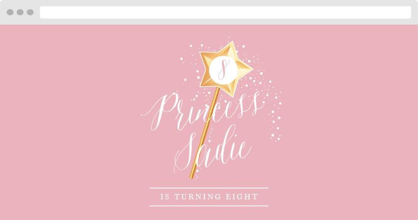Princess Wand Birthday Website