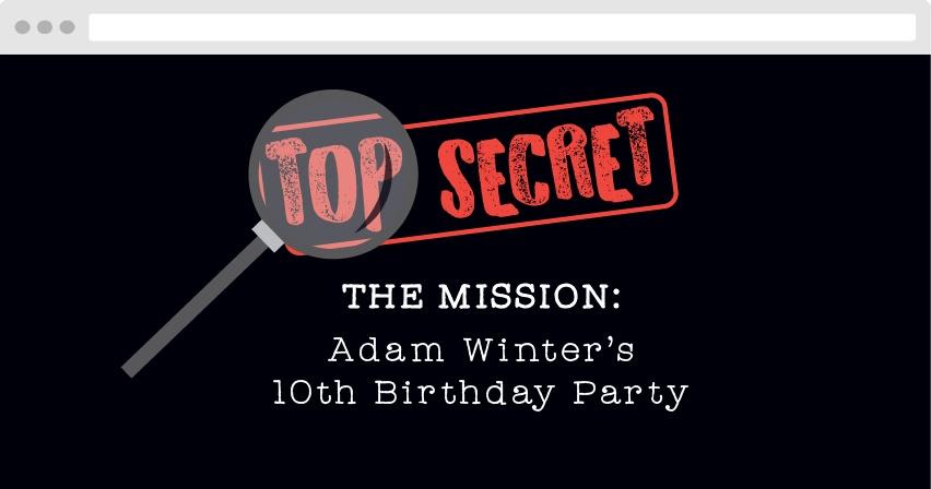 Top Secret Birthday Website