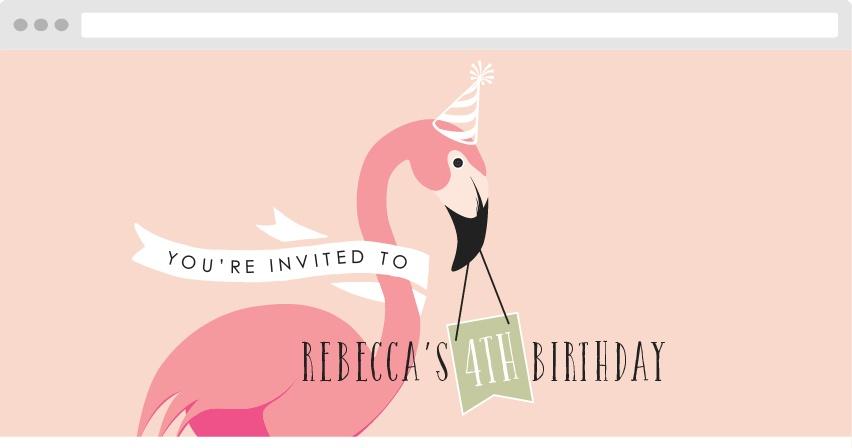 Flamingo Party Birthday Website