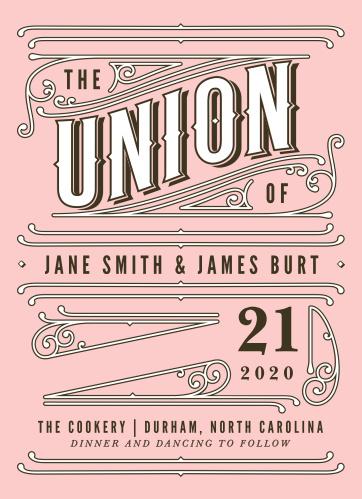 Vintage Union Wedding Invitations