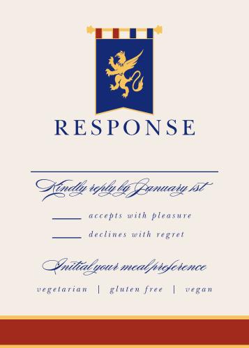 Medieval Banner Bar Mitzvah Response Cards