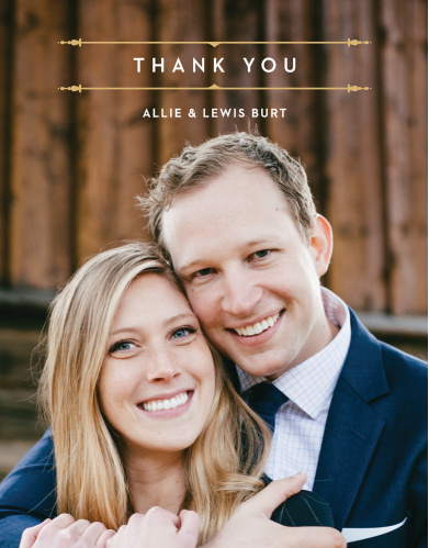 Happily Ever After Wedding Thank You Cards