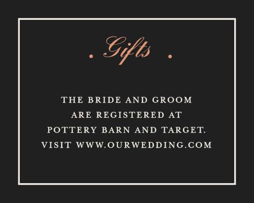enchanted wedding registry cards