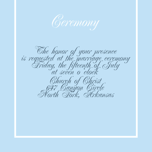 Simple Border Ceremony Cards