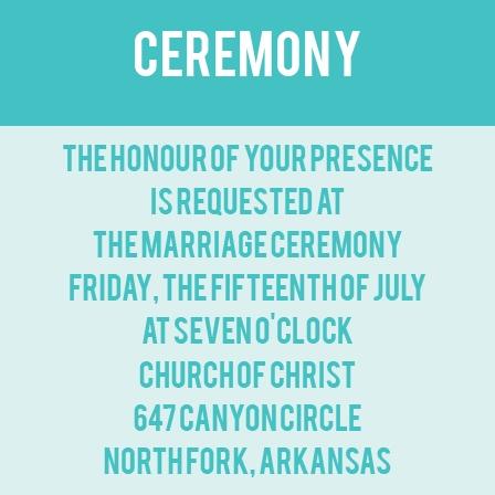 The Minimalist Monogram Ceremony Cards
