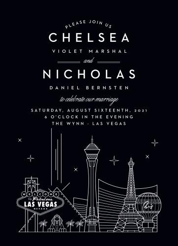 Las Vegas Skyline Wedding Invitations