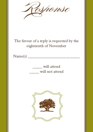 The Majestic Tree RSVP Cards