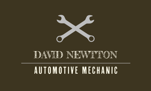 Mechanic Business Cards Match Your Color Style Free