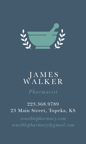 Pharmacy Business Cards Match Your Color Style Free