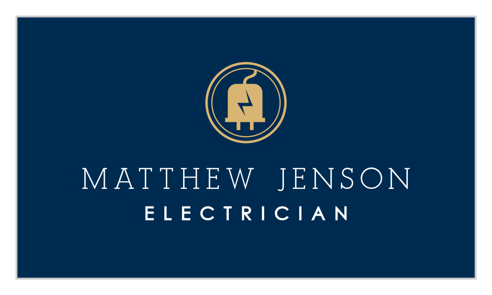 Electricity Bolt Business Cards By Basic Invite
