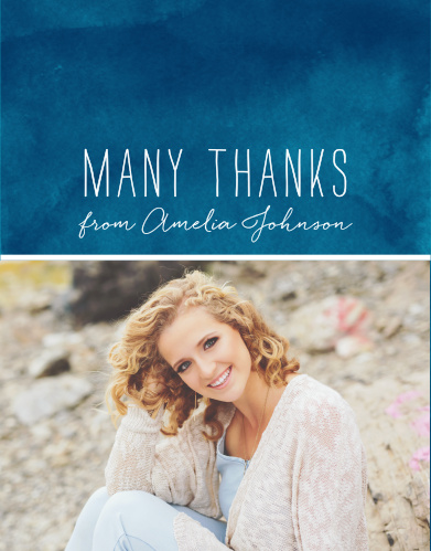 Seaside Seashells Graduation Thank You Cards