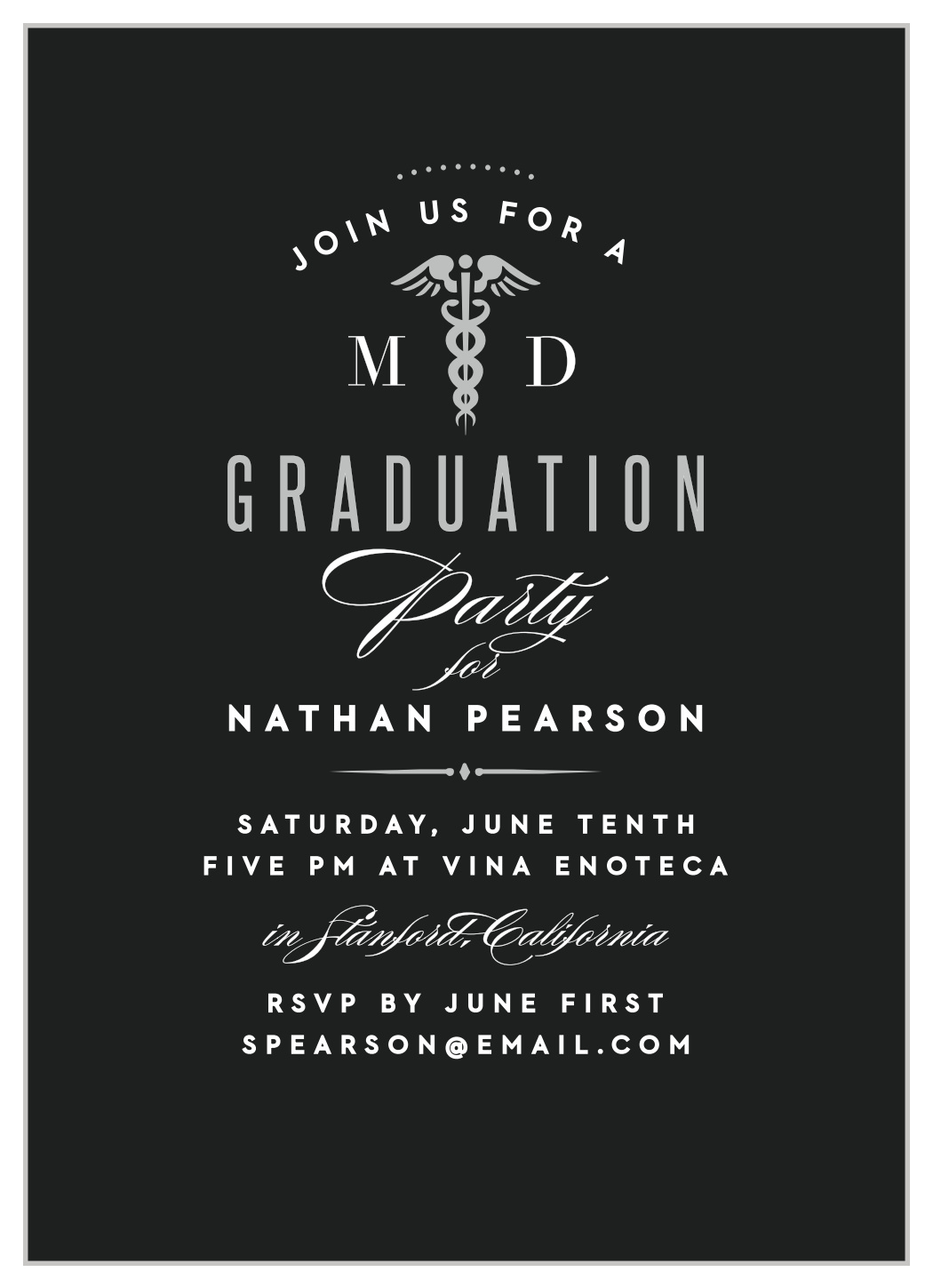 Medical School Graduation Invitations by Basic Invite