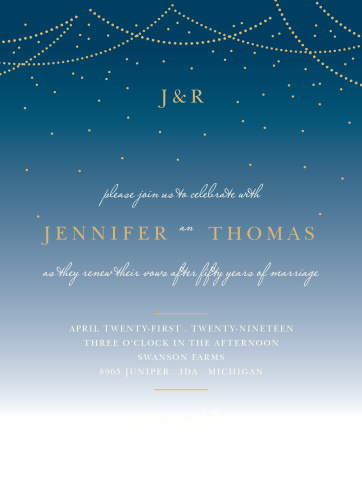 5a2f464d9c80 Vow Renewal Invitations   Renew Your Love with Basic Invite