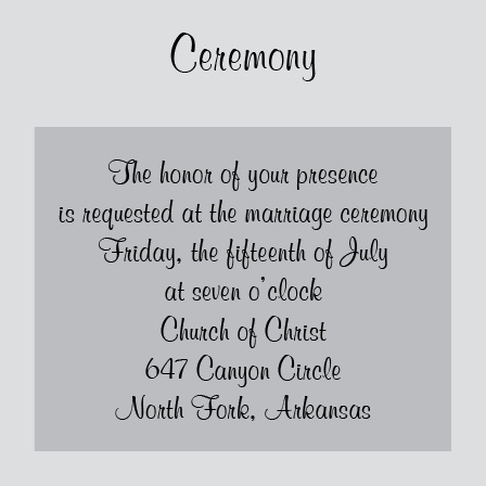 Perfectly Personalized Ceremony Cards