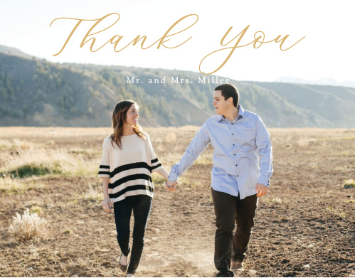 Romantic Watercolor Vow Renewal Thank You Cards
